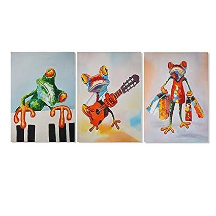 Amazon.com: Modern Cartoon Canvas Print Artwork Colorful Abstract ...