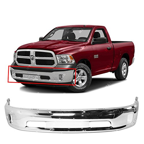 MBI AUTO - Chrome, Steel Front Bumper Face Bar for 2013-2018 RAM 1500 W/Fog 14-17, CH1002396