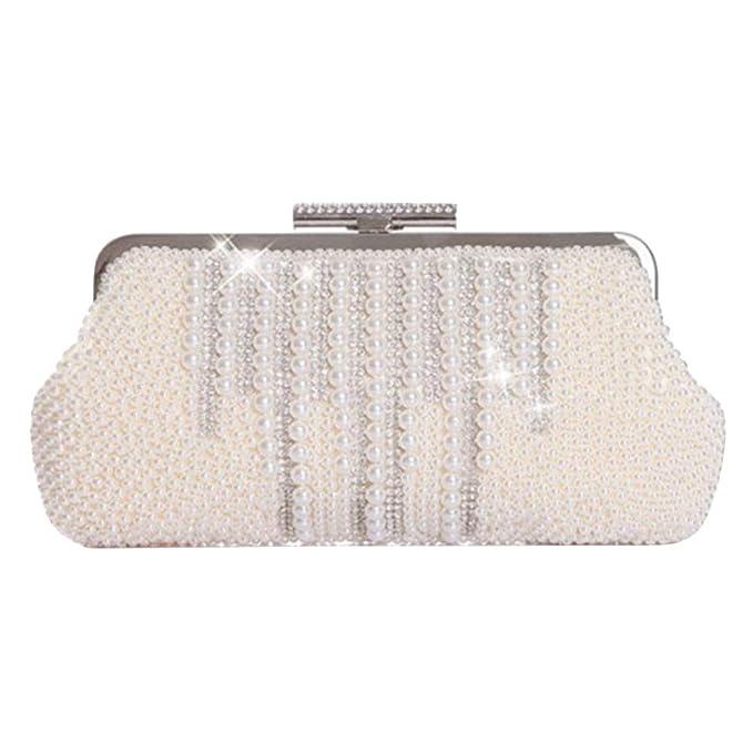 OLIS, Bolso De Noche De Moda Para Mujer Bolso De Embrague Perla Glitter Diamond Bolso