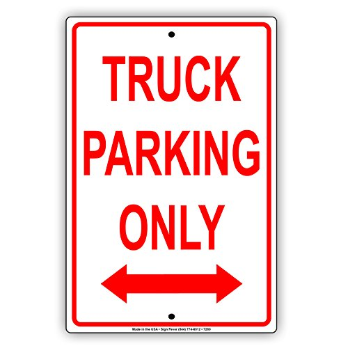 Truck Parking Only Thick Aluminum Metal Sign Premium Quality Display Board Advertisement Signboard 12
