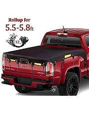 Coverify Truck Bed Cover Standard Bed (6.5′ Box) for Ford F150/F150 Raptor Silverado/Sierra Ram Colorado Truck Bed Tarp Super Duty Cargo Net