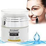 Eye Gel for Dark Circles, Puffiness, Wrinkles and Bags - Instant Firming & Anti Aging Eye Cream - 100% Natural With Hyaluronic Acid, Jojoba Oil, MSM, Peptides & More, for Under and Around Eyes - 15ml