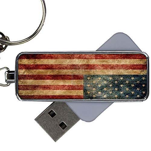 for USB Drive 8Gb Men Metal Print with American Flag 1
