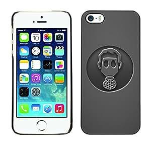 Be Good Phone Accessory // Dura Cáscara cubierta Protectora Caso Carcasa Funda de Protección para Apple Iphone 5 / 5S // Minimalist Gasmask