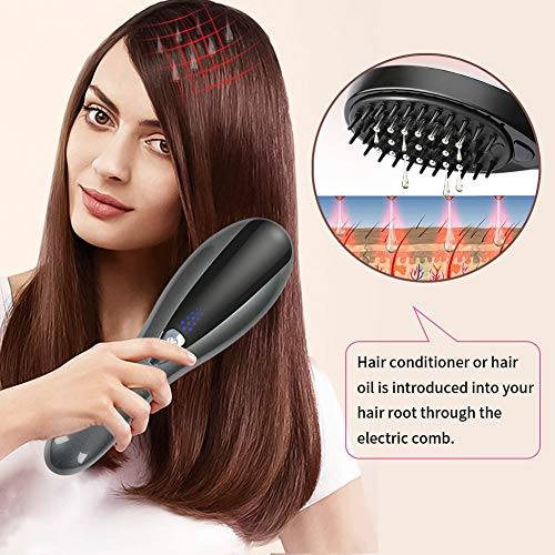 Handheld Hair Massager,Hair care liquid guiding comb Electric Mini Scalp Massager,Head Massager– Hand Held Rechargeable Scratch Massager for Head Relax, Stress Release Tool (Black)