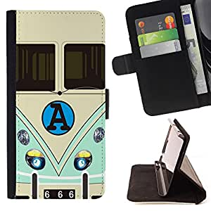 King Case - FOR Samsung Galaxy S6 - Where you are there - Prima caja de la PU billetera de cuero con ranuras para tarjetas, efectivo Compartimiento desmontable y correa para la mu?eca