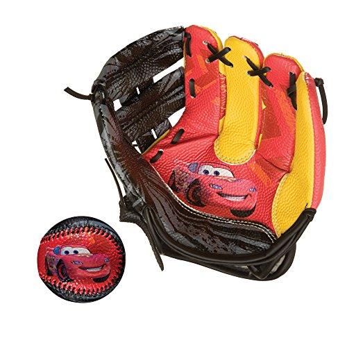 Franklin Sports Disney/Pixar Cars 9 inch Air Tech Glove and Ball Se