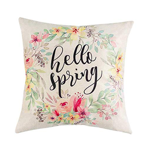 OrchidAmor 1pcs Spring Flowers Tree Bicycle Balloons Home Decor Cotton Linen Pillow Cases 2019]()