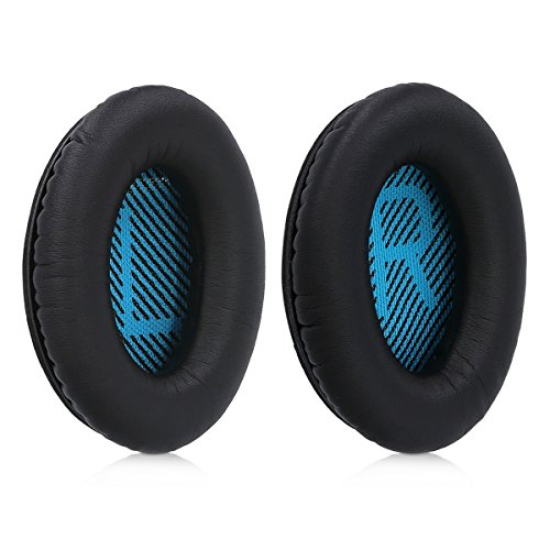 kwmobile 2x earpads for Bose Soundlink Around-Ear Wireless II Earphones - Leatherette replacement ear pad for Bose Headphones - black by kwmobile