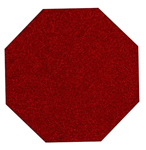 Home Queen Solid Color Octagon Shape Red 8' Octagon - Area Rug (Octagon Shape Rugs)