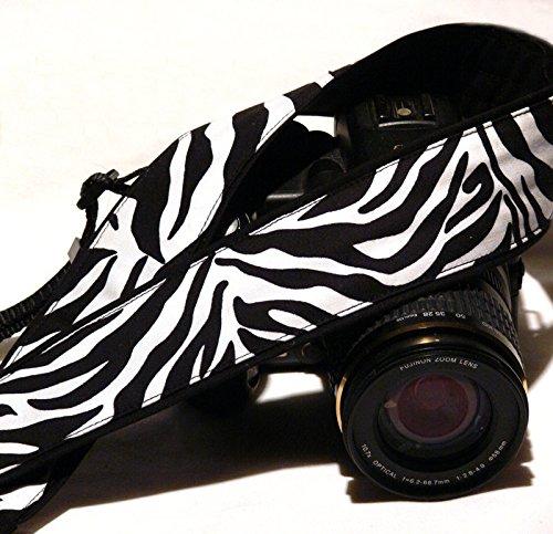Zebra Camera Strap. Zebra Print Camera Strap. DSLR Camera Strap. Camera Accessories; 103