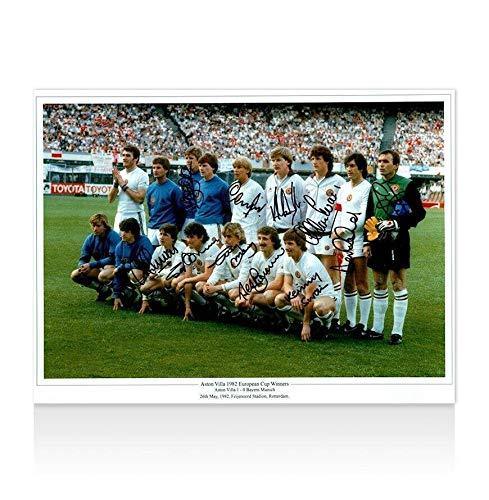 Aston Villa Multi-Signed Photo - 1982 European Cup Winners Autograph - Autographed Soccer Photos