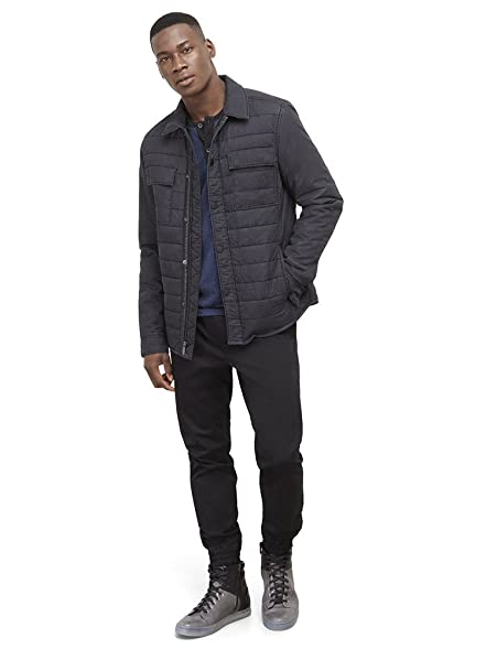 Amazon Kenneth Cole Reaction Mens Quilted Nylon Shirt Jacket