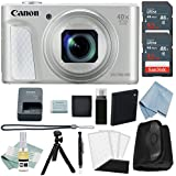 Canon Powershot SX730 HS Bundle (Silver) + Canon SX730 HS Advanced Accessory Kit - Including EVERYTHING You Need To Get Started