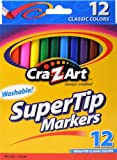 Cra-Z-art Classic Washable Super Tip Markers, 12 Count (10006)