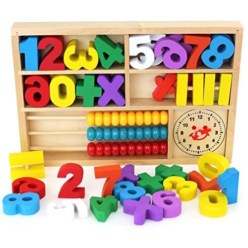 BeesClover Montessori Educational Baby Wood Toy Bo\u00eete de Jeu d'apprentissage Num\u00e9rique Jouets en Bois Learning Box 1