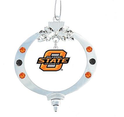 Amazon.com : Oklahoma State University Logo Christmas Ornament ...