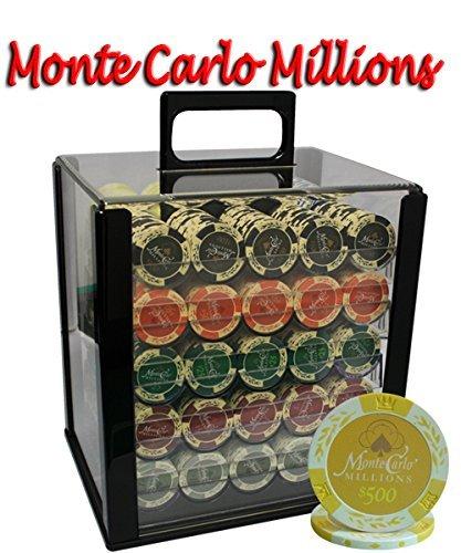 1000pcs 14 g g Monte B00WV2XD0E Carlo Millions Monte Poker Chipsセットwithアクリルケースカスタム構築 B00WV2XD0E, ふるーつかんぱにー:386bf4c6 --- itxassou.fr