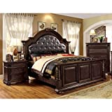 Furniture of America Angelica English Style Brown Cherry 2-piece Bedroom Set California King