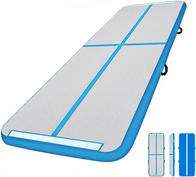 Tapis de Gymnastique avec Pompe Electrique 3m//4m//5m//6m Gonflable Tumbling Mats pour Les Enfants//Gym//Formation//Piscine,A/_300x100x10cm JLDNC Airtrack Mats