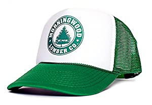 Morning Wood Lumber Co Established 7:45 AM Funny Unisex Adult One-Size Hat Cap Multi (White/Green)