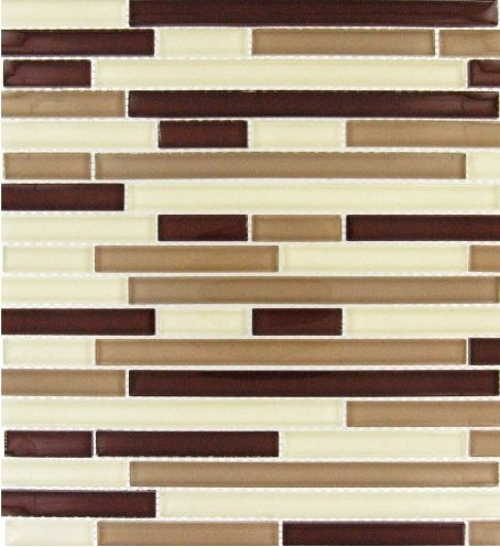 MS International 12 in. x 12 in. Sedona Blend Glass Mesh-Mounted Mosaic Tile - Box of 5 sqf