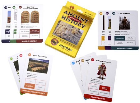 Ancient History Go Fish Game By Classical Historian by GeoToys TOY (English Manual)