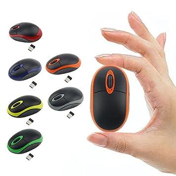 Fashion ratón inalámbrico de 2,4 G Mini ratón óptico inalámbrico para ordenador portátil Notebook ^. Naranja: Amazon.es: Electrónica