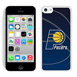 New Custom Design Cover Case For iPhone 5C Generation Indiana Pacers 11 White Phone Case