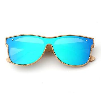 Y&J Gafas de Sol de bambú de Madera, Gafas de Sol de Madera ...