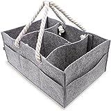 Baby Diaper Caddy Organizer | Large Portable Car Basket...