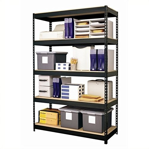 Hirsh Industries Steel 5-Shelf Unit, 48 by 18 by 72-Inch, Black by Hirsh Industries