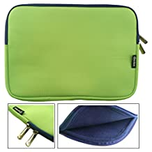 Emartbuy® Green / Blue Water Resistant Neoprene Soft Zip Case Cover Sleeve With Blue Interior & Zip Suitable for Venturer EliteWin 11.6 Inch 2-in-1 Tablet with Smart Keyboard ( 11.6 - 12.5 Inch Tablet Chromebook Laptop )