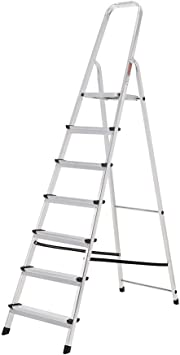 ORYX 23010007 Escalera Aluminio 7 Peldaños Plegable, Uso doméstico, Antideslizante, Ligera y Resistente: Amazon.es: Bricolaje y herramientas