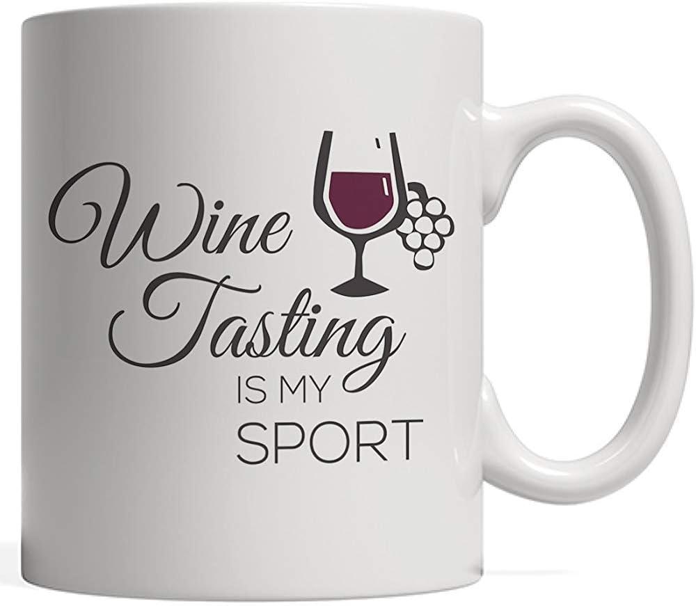 Taza de cata de vinos es mi deporte: ¡un divertido regalo para beber para un orgulloso bebedor y amante del alcohol que ama beber un vaso de vino tinto o blanco!