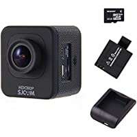 SJCAM M10 kit Cube Mini Full HD Action Sport Camera(Black) Bundle With Replacement Battery and Charger and EACHSHOT 32G Memory Card