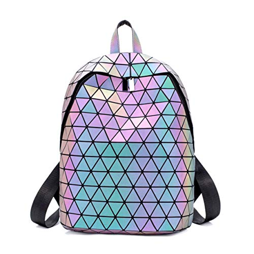 Geometric Backpack Luminous Backpacks Holographic Reflective Bag Lumikay Bags Irredescent Rucksack Rainbow Luminous