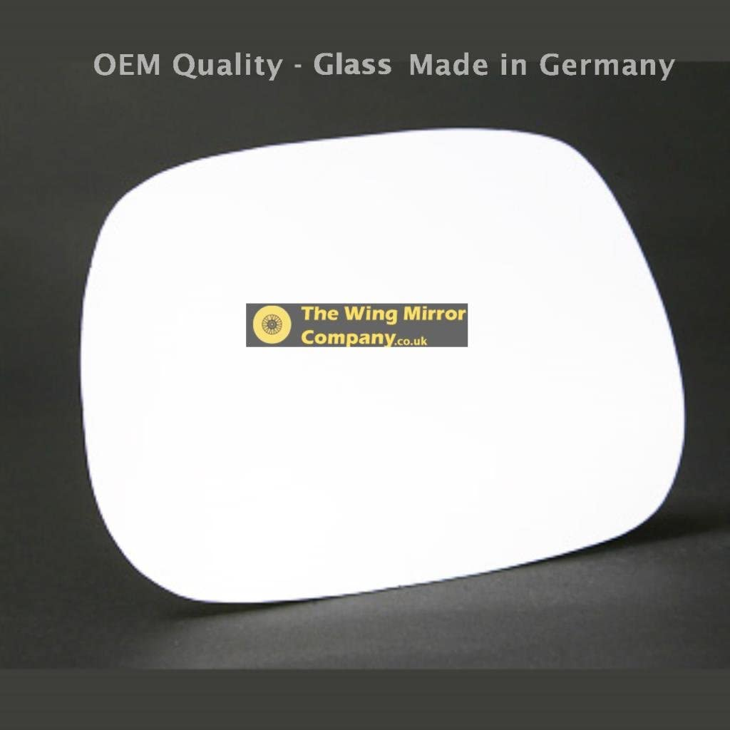 Passenger Side TO-Avensis Verso 2001 to 2003 Silver Wing//Door Mirror Glass LH