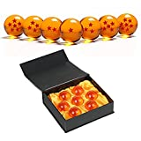 Simuer Unisex Stars Acrylic Transparent Play Balls Crystal Dragon Ball 7pcs Set 4.3cm with Gift Box