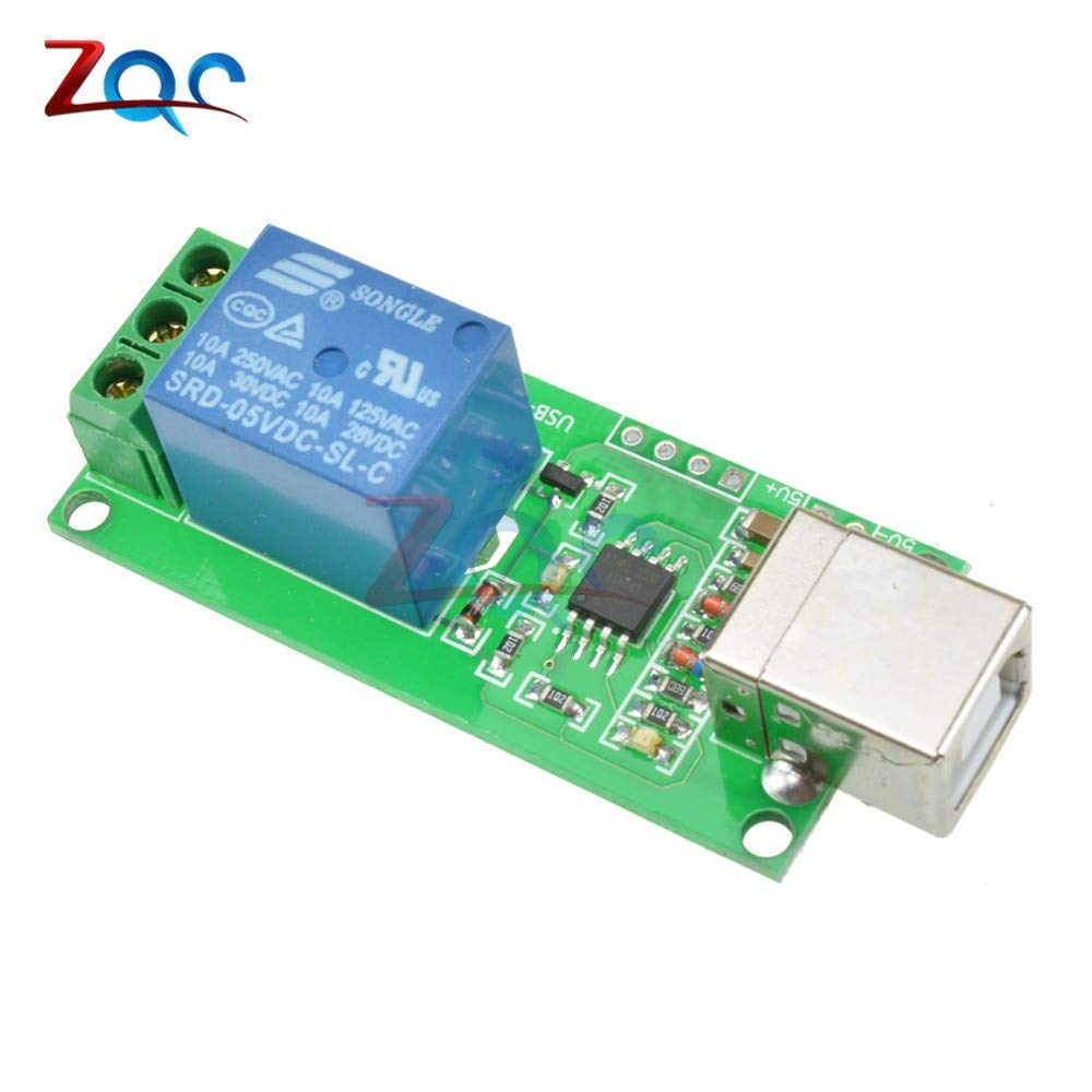 5pcs//lot 5V USB Relay 1 Channel Programmable Computer Control For Smart Home