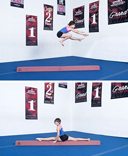 8FT Long Gymnastics Balance Beam with Carry Bag | A Serious Practice Balance Beam for Kids, Beginners & Professional Gymnasts. Non Slip Home Gymnastics Beam Folding Down to 4' for Easy Storage