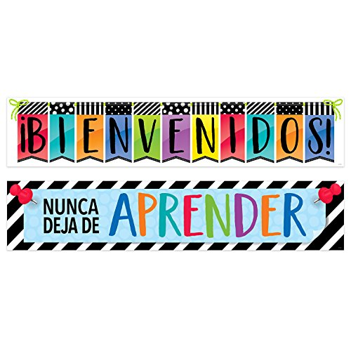 Creative Teaching Press Bold and Bright Bienvenidos! Spanish Banner, 2 Sided, CTP (8154) -
