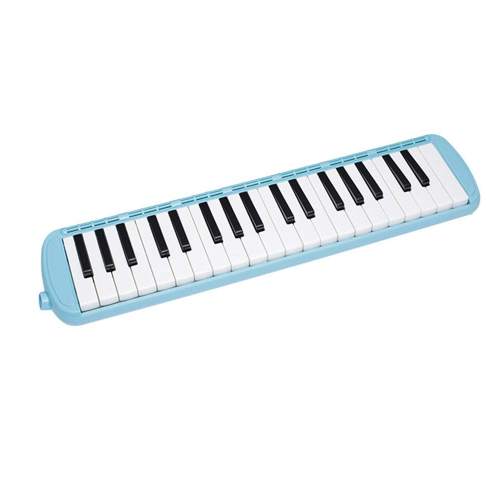 Melodica Musical Instrument 37 Keys Kids Musical Piano Melodica Instrument Gift Toy Pianica Melodica For Music Lovers Beginners Portable With Mouthpieces Tube Sets Carrying Bag Pink Blue For Music Lov by Kindlov-mus (Image #2)