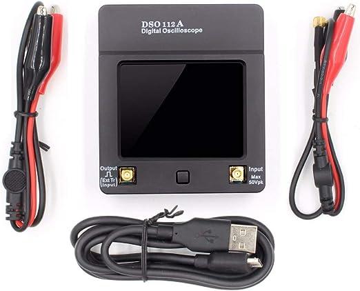 DSO112A Oscilloscope num/érique /à /écran tactile 2 MHz 5 Msps 2,4 pouces TFT Oscilloscope USB portable RFE91555196-B9IT
