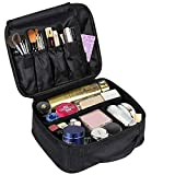 """Makeup cosmetic Storage Case, makeup organizer portable Travel Makeup Bag Makeup Case Organizer Makeup Organizer Bag with Adjustable Dividers Cosmetic Bag Toiletry Organizer Tool (velc(9.8""""x7.9""""x3.8""""))"""