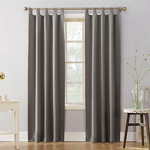 (Sun Zero Easton Blackout Energy Effcient Tab Top Curtain Panel, 40