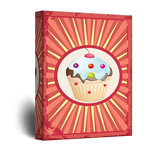 Cupcake Concept Vintage Style Art