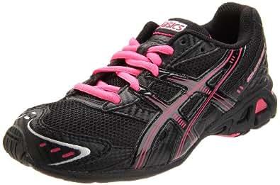 ASICS Kid's GEL-Antares 3 GS Running Shoe, Black/Onyx/Pink, 4 M US Big Kid