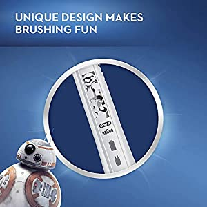 Oral-B Kids Electric Toothbrush with Replacement Brush Heads, featuring Star Wars, for Kids 6+