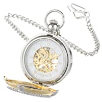 Charles Hubert 3846 reloj de bolsillo con marco de cuadro mecánico bicolor